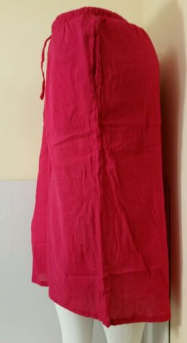 WOMEN/'S  CRINKLE COTTON CULOTTES LARGE ☆FUCHSIA ☆NEW