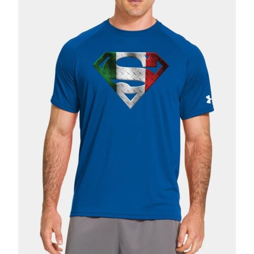 Armour Italia Superman Alter Under Uomo Royal Blu Ego Maglia 5nSPqX