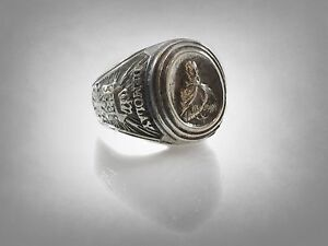 Image is loading VINTAGE-sterling-silver-masonic-demolay-chevalier-ring -size- 5d4e5f1625c