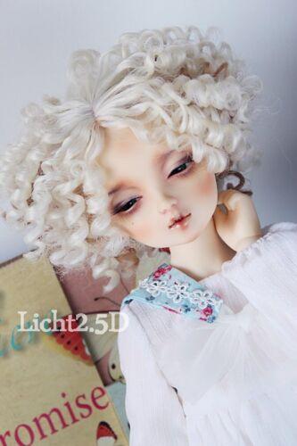 Bjd Doll Wig 1//4 7-8 SD MSD AOD DZ LUTS Dollfie blonde// curly Toy Head Hair
