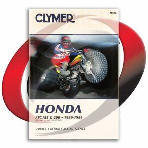 1984-Honda-ATC200ES-Repair-Manual-Clymer-M326-Service-Shop-Garage-Maintenance