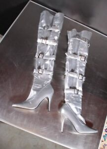 Over The Knee (Thigh) Boots, Silver