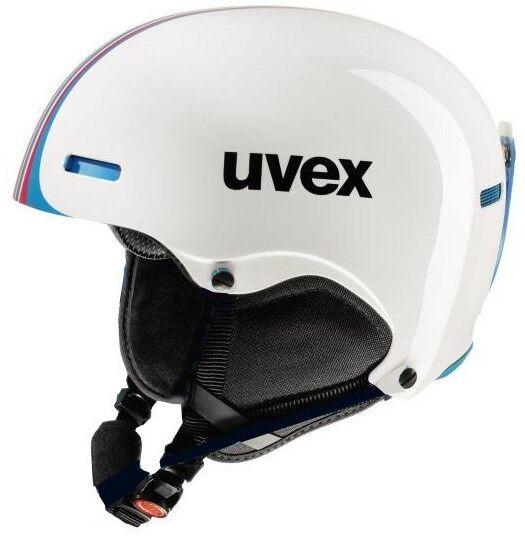 Uvex hlmt 5 race white bluee Skihelm Snowboard Wintersport Helm Rennskihelm 16 17