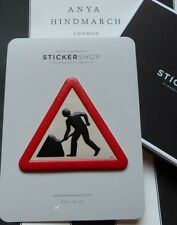 ANYA HINDMARCH Leather Sticker MEN AT WORK Large CAPRA