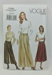 Vogue-Sewing-Pattern-7768-Misses-Skirt-and-Pants-Size-18-20-22