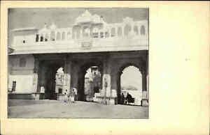 Indien-UDAIPUR-India-Asia-Maharadja-Palast-Heimatbeleg-Postkarten-Format-1940