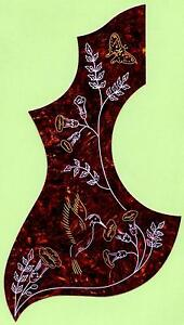 LEFT-HANDED-034-HUMMINGBIRD-034-DESIGN-ACOUSTIC-GUITAR-PICKGUARD-SCRATCHPLATE-NEW
