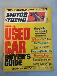 motor trend magazine june 1968 used car buyers guide