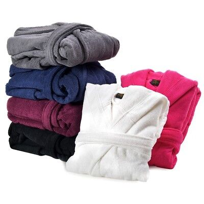 AnpassungsfäHig Mens & Ladies 100% Egyptian Cotton Terry Towelling Hooded Bathrobe Dressing Gown