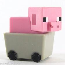 Minecraft Mini Figure Series 6 End Stone Series Loose Pig in Minecart