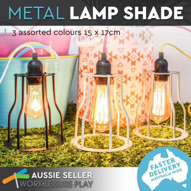 New Industrial Cage Pendant Lamp Retro Hanging Light Vintage White Luminite