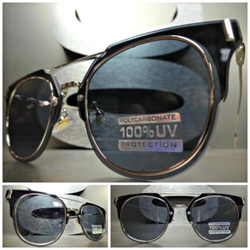 New CLASSIC VINTAGE 60s RETRO Style SUN GLASSES Unique Black /& Silver Wire Frame