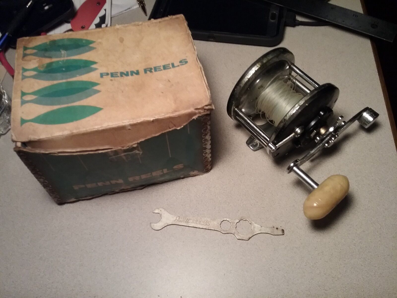 (1) Vintage Penn Long Beach No. 60  Conventional Fishing Reel smooth action works  for your style of play at the cheapest prices