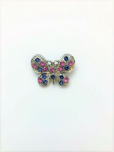 Silver  Round Wings Rhinestone Brooch Pin Costume 30 PER LOT Fashion Butterfly