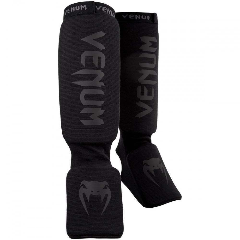 Venum Kontact Shin Instep Guards Black Shinguards Kickboxing Striking MMA Sold by MinotaurFightStore