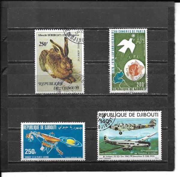 9 Djibouti Poste Aérienne Timbres #c120 // C140 (scott) Mh/acen Chat Val 33.80 $-ott) Mh/canc Cat Val $33.80 Adopter Une Technologie De Pointe