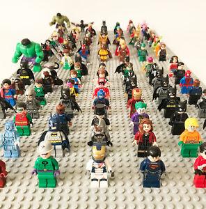 Lot-of-4-RANDOM-Lego-Super-Heroes-Minifigures-Marvel-DC-Comics-Avengers