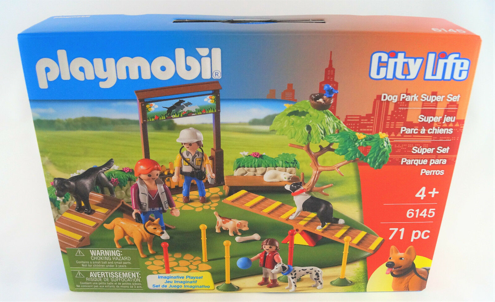 Playmobil City Life 6145 Super Set Set Set Hundeschule Dog School Neuware   New d41b71
