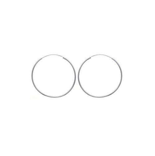 Boucles d/'oreilles Créoles 4,5 cm Classique ARGENT NEUF