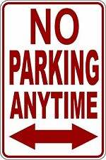"""(4) """"NO PARKING PARKING ANYTIME""""  CORRUGATED PLASTIC SIGN 9""""X12"""""""
