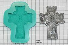 Sugarcraft Stampi WEDDING CAKE DECORAZIONE STAMPI SILICONE ARTIGIANALI CROCE (3152)