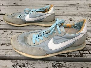 buy cheap f190a 1a396 Details about Vtg 80s Nike Baby Blue Lo Top Athletic Womens Shoes Sz 6 1/2  Cortez Waffle