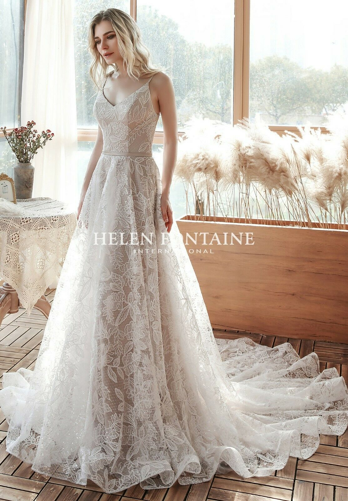 BOHO A-LINE LACE WEDDING DRESS Delivery In About 60 Days