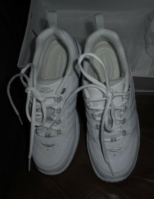 White Leather Athletic Shoes Sz 5