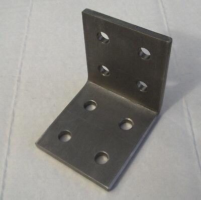 Edelstahl-Winkelverbinder V2A L-Winkel Schenkel 70mmx70mmx60 x5mm Lochung 8,5mm