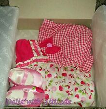 American Girl BITTY BABY  PRETTY PICNIC OUTFIT for Baby Dolls Clothes Hat NEW