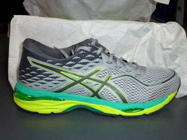 ASICS Gel Cumulus 19 shoes Womens Running Grey Carbon Yellow T7B8N 9697 size