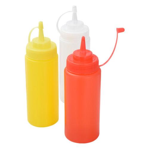 Küche Kunststoff Salat Squeeze Flasche 8oz für Sauce Essig Öl Ketchup-Tool YR