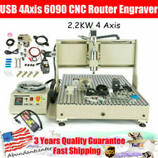 New Listing22kw Usb 4axis 6090 Cnc Router Engraver Vfd Milling Carving Machine Controller
