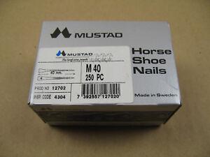 Hufnägel Hufnagel Horse Shoe Nails Mustad Schweden 250 Stück Gr. M 40