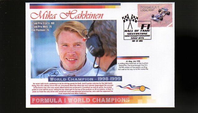 98-99 MIKA HAKKINEN F1 WORLD CHAMPION COVER, McLAREN 1