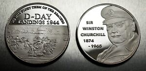 Superb WINSTON CHURCHILL Coin WW2 D-DAY LANDINGS Coin Hunt Commemorative NEW