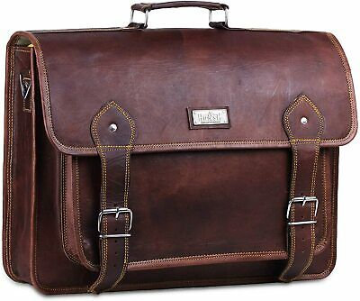 Tote bag men   College student gift  Leather satchel men  Big leather bag  FREE SHIPPING