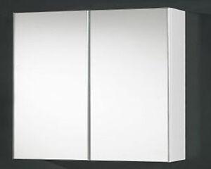 New-450mm-Mirror-Shaving-Cabinet-Pencil-Edge-Door-2pack-Gloss-White-Finish