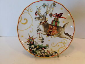 SALAD PLATE Williams Sonoma /'TWAS THE NIGHT BEFORE CHRISTMAS New REINDEER