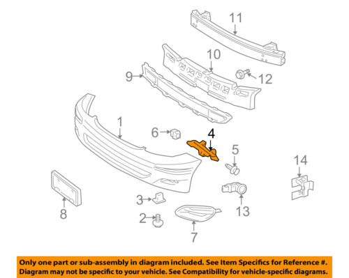 TOYOTA OEM 04-10 Sienna Front Bumper-Side Support Bracket Right 52115AE010