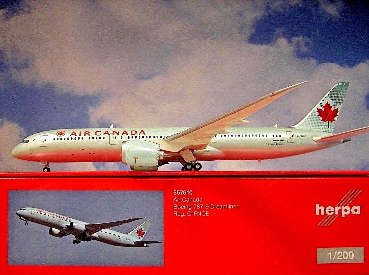 Herpa Ali 1:200 Boeing 787-9 Dreamliner Air Canada C-Fnoe 557610
