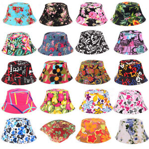 6f9aeaf2c58 Bucket Hat Floral Fishing Boonie Brim Visor Safari Beach Summer Mens ...