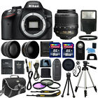Nikon D3200 Digital SLR Camera + 3 Lens: 18-55mm VR II NIKKOR Lens + 24GB Bundle