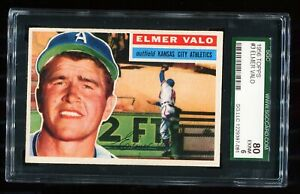 1956-Topps-Bastball-9-ELMER-VALO-Kansas-City-Athletics-White-SGC-80-EX-NM-6