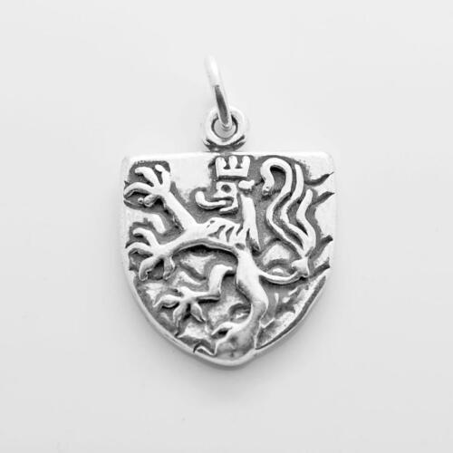 Knights Shield Charm Pendant STERLING SILVER 925