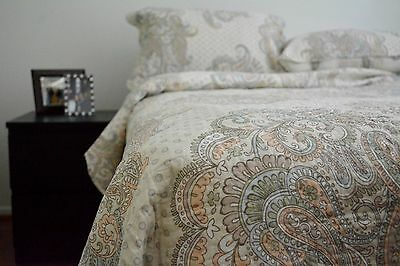 Tache Cotton Floral Paisley Damask Reversible Quilt Bedspread Bedding Set