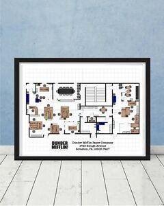 The-Office-Dunder-Mifflin-Scranton-Floor-Plan-Art-Gift-Schrute-Jim-Scott-Poster