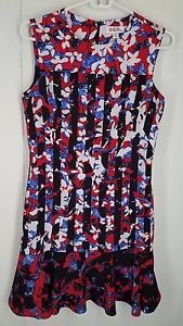 8bc7f196db226 Peter Pilotto For Target Dress In Red Floral Stripe Print Sleeveless ...