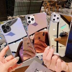 Espejo-A-Prueba-De-Golpes-Duro-Funda-Para-iPhone-11-Pro-Max-SE-2020-XS-X-Xr-8-6s-7