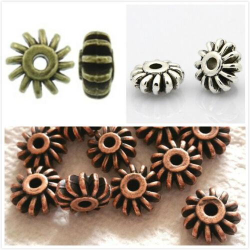 12pc 12x6mm antique finish metal beads-pls pick a color